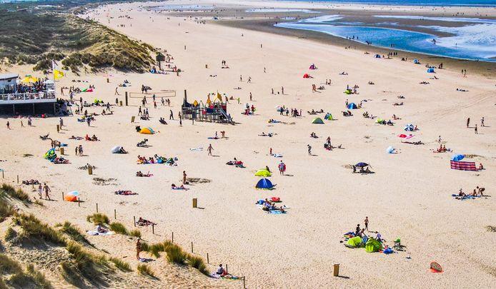 Het strand van Ouddorp in betere tijden.