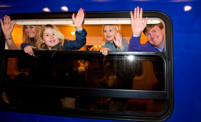 In 2013 ging de koning met zijn gezin per trein op wintersportvakantie in Oostenrijk.