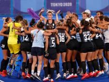 Argentijnse hockeysters dansen in kleedkamer, Weertman bedankt zijn fans