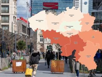 IN KAART. Positiviteitsratio in Wallonië en in Limburg boven 10 procent. Bekijk hier de situatie in uw regio