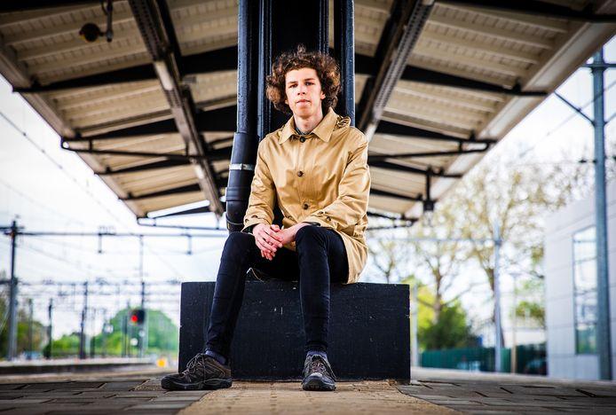 Abel Janssens op het station van Dordrecht.