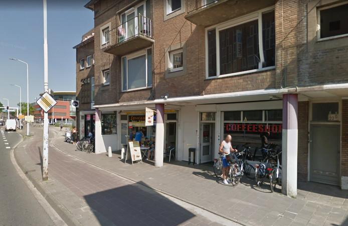 Coffeeshop The Wall aan de Marconilaan in Eindhoven.