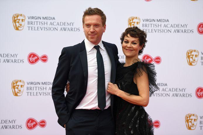 Damian Lewis (L) en Helen McCrory (R)