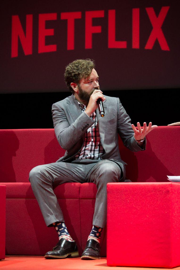 Danny Masterson stelde op het event zijn nieuwe sitcom 'The Ranch' voor. Beeld Netflix