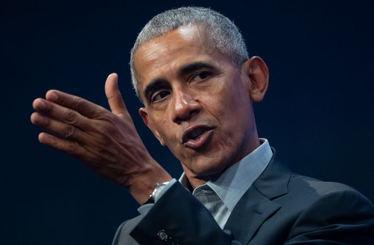De Amerikaanse oud-president Barack Obama. Beeld Sven Hoppe/dpa