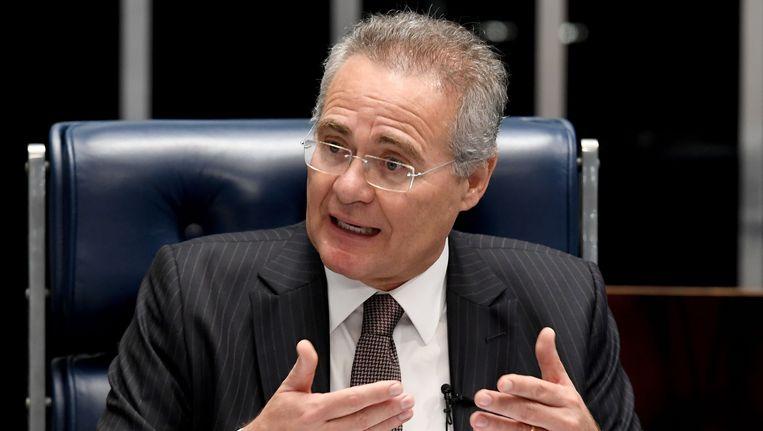 De Braziliaanse president van de Senaat, Renan Calheiros. Beeld AFP