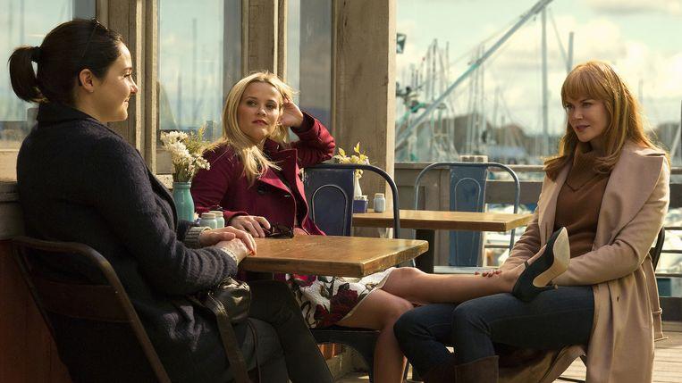 Shailene Woodley, Reese Witherspoon en Nicole Kidman in Big Little Lies. Beeld rv