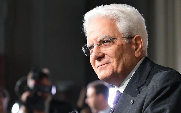 President Sergio Mattarella.