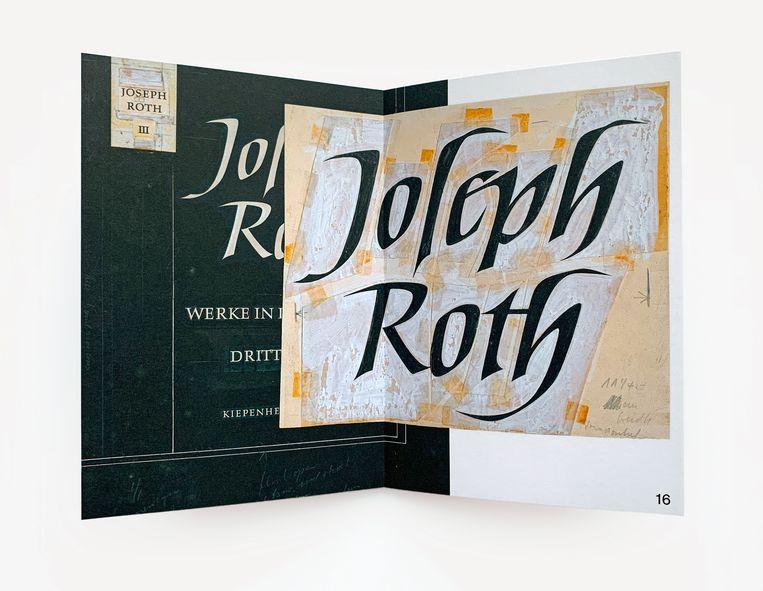 Joseph Roth: Werke in drei Bänden (Kiepenheuer & Witsch, 1956), ontwerp Helmut Salden. Beeld Karen Polder