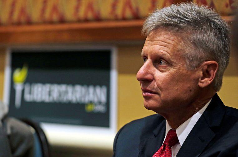 Presidentskandidaat Gary Johnson Beeld reuters