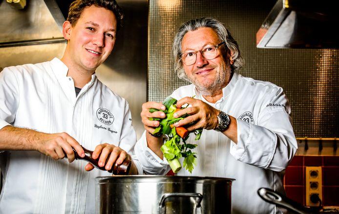 Baptiste en vader Stéphane Buyens blijven actief in de keuken, ook nu restaurant Le Fox moet sluiten.