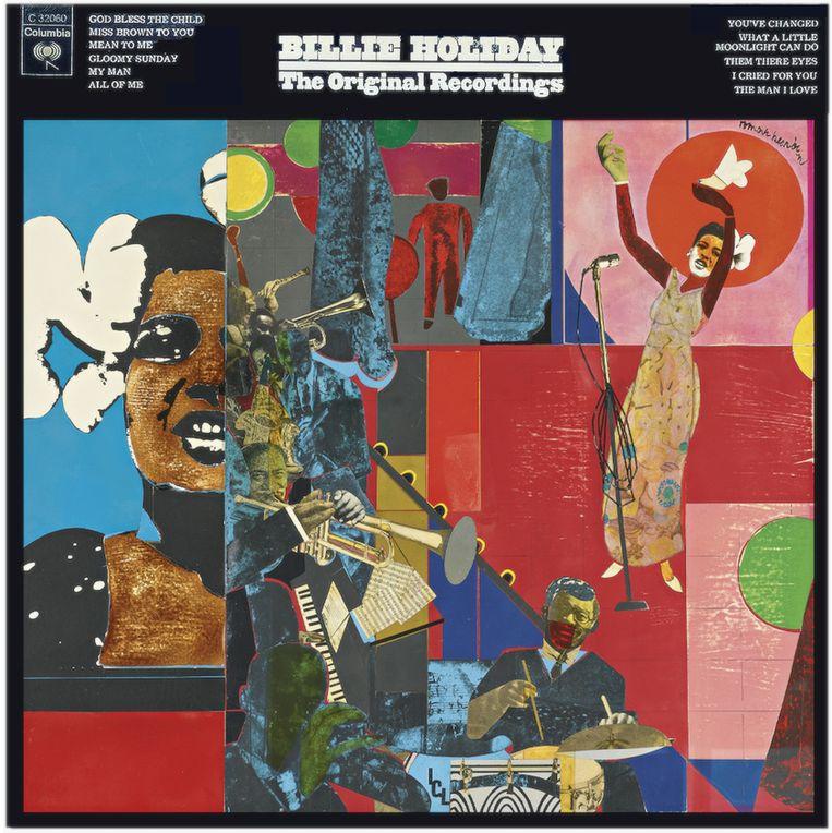Billie Holiday: The Original Recordings. Columbia, 1973. Albumcover Romare Bearden. Beeld Romare Bearden