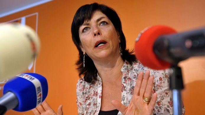 Partijvoorzitter Joëlle Milquet (CdH).