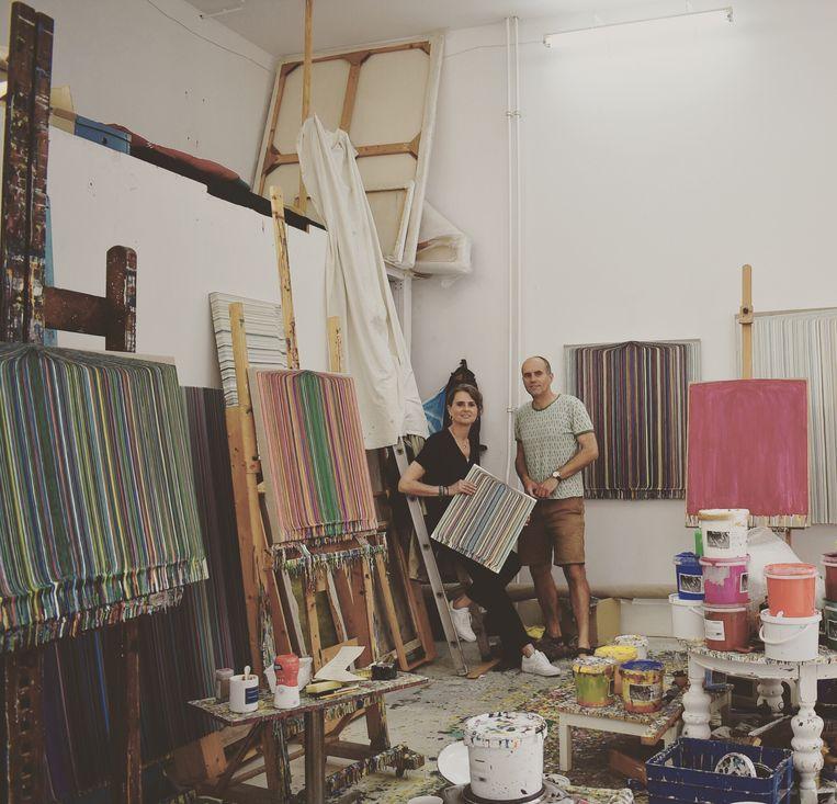 Atelierbezoek Bas Lobik, 2010.  Beeld