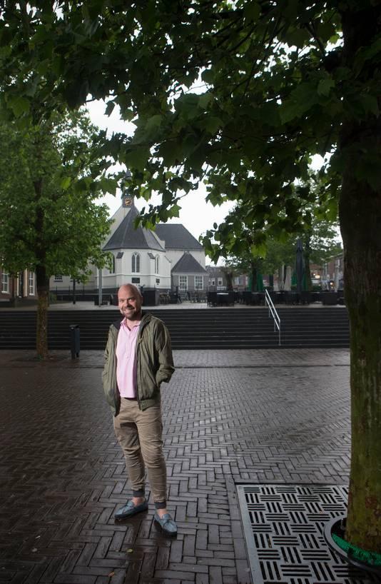 André Heuvelman op de Markt in Veenendaal