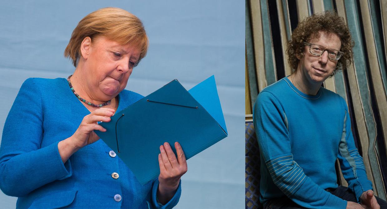 Merkel en Grunberg Beeld Getty / Humo