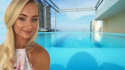 Jenny keek uit naar infinitypool in haar vakantiehotel, maar foto bleek uit wel érg voordelige hoek getrokken