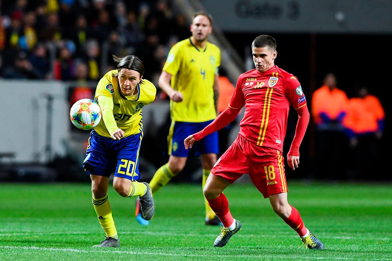 Kristoffer Olsson namens Zweden in duel met de Roemeen Razvan Marin.