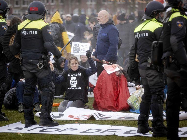 Actievoerders in Amsterdam. Beeld ANP
