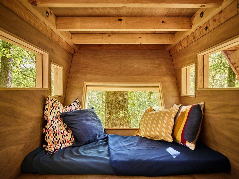 Comfort, ook in een boomhut.