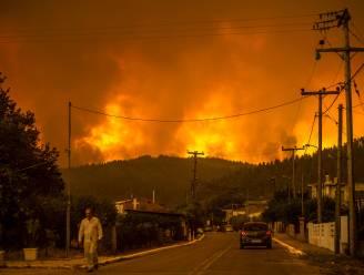 """IN BEELD. Branden blijven Grieks eiland Evia teisteren, duizenden inwoners geëvacueerd: """"We zijn alleen. Ons einde is nabij"""""""