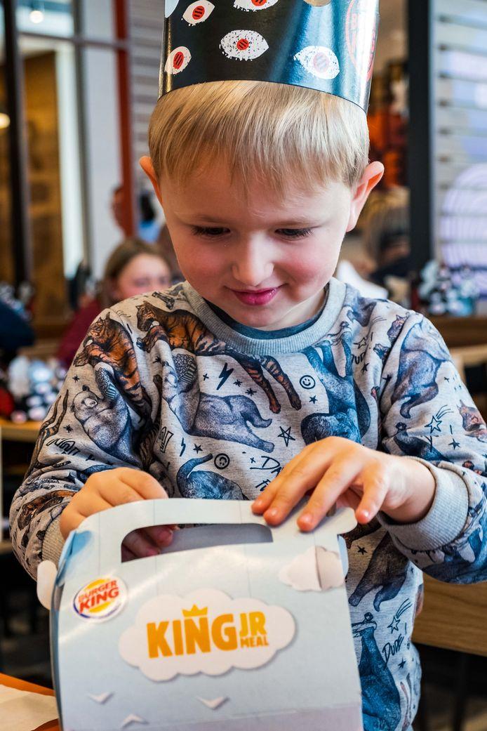 Opening Burger King restaurant. Liam.