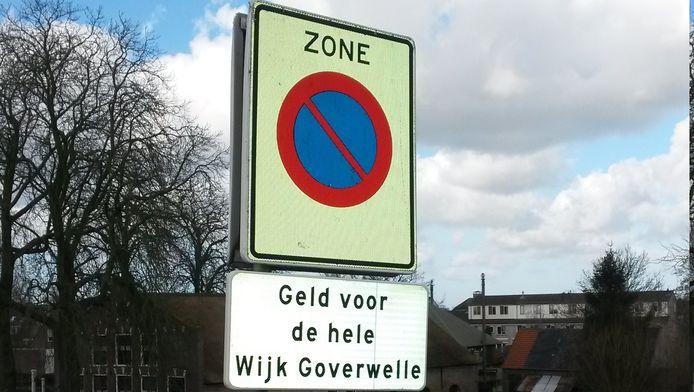 Het verkeersbord in Gouda.
