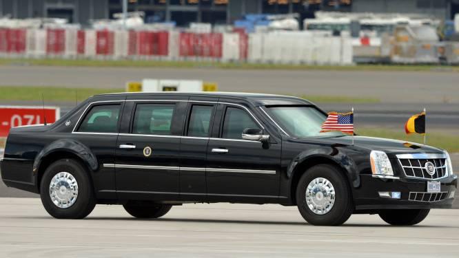 Dit is de wagen waar Trump straks mee rondrijdt