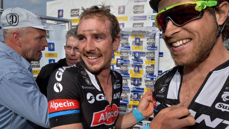 John Degenkolb en onze landgenoot Bert De Backer (r) zitten in de voorselectie voor de Tour Beeld PHOTO_NEWS