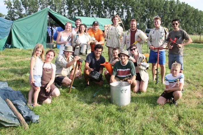 Scouts Laken-Ruusbroec vindt in Woumen een nieuwe kampplaats, nadat hun vorige in de Ardennen onder water was gelopen.