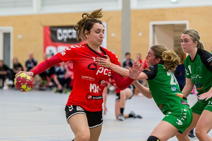 Meike Damhuis speelde bij SEW haar laatste wedstrijd in de hoofdmacht van Kwiek.
