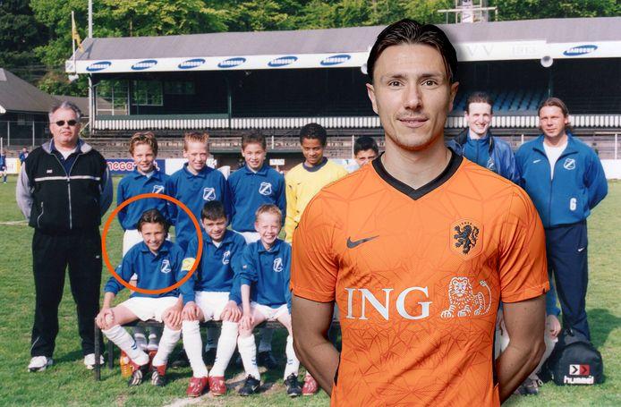 Steven Berghuis begon zijn voetballoopbaan in Apeldoorn, bij AGOVV.