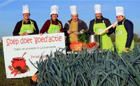 ACV Lichtervelde pakt opnieuw uit met hun jaarlijkse 'Soep doet goed'-actie.