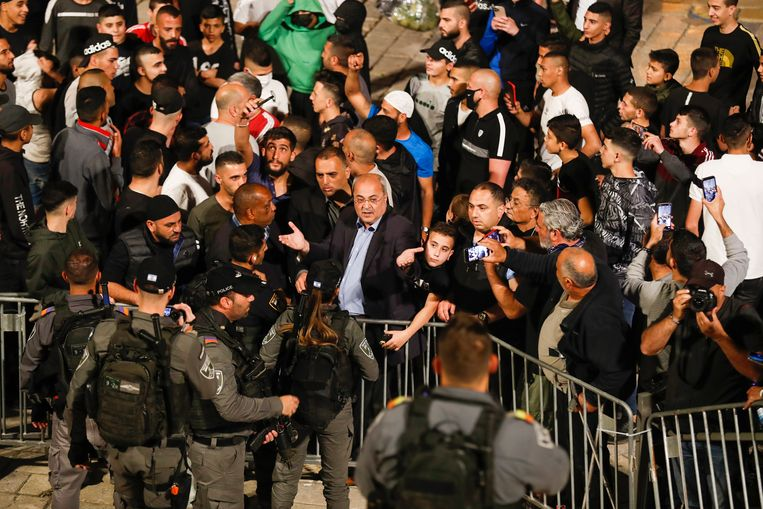 Hekken bij de Damascuspoort in Jeruzalem. Beeld EPA