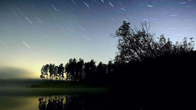 De sterrenhemel boven Rusland. (Archieffoto 2005) Beeld afp