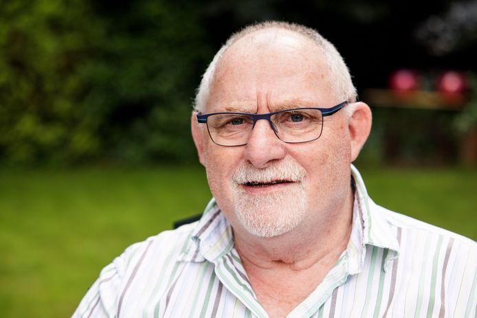 Jan de Rooij, oud-judoka, zit door een herseninfarct nu in een rolstoel.