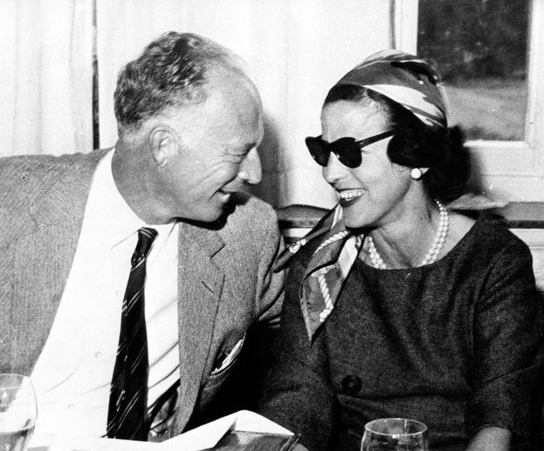 Koning Leopold III en Lilian Baels in 1959. De Britten zouden tijdens WO II hebben willen voorkomen dat ze trouwden. Beeld Belga
