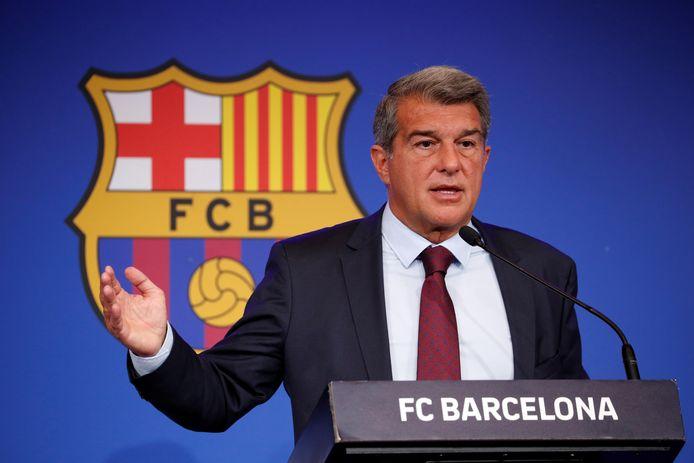 Barça-voorzitter Laporta.