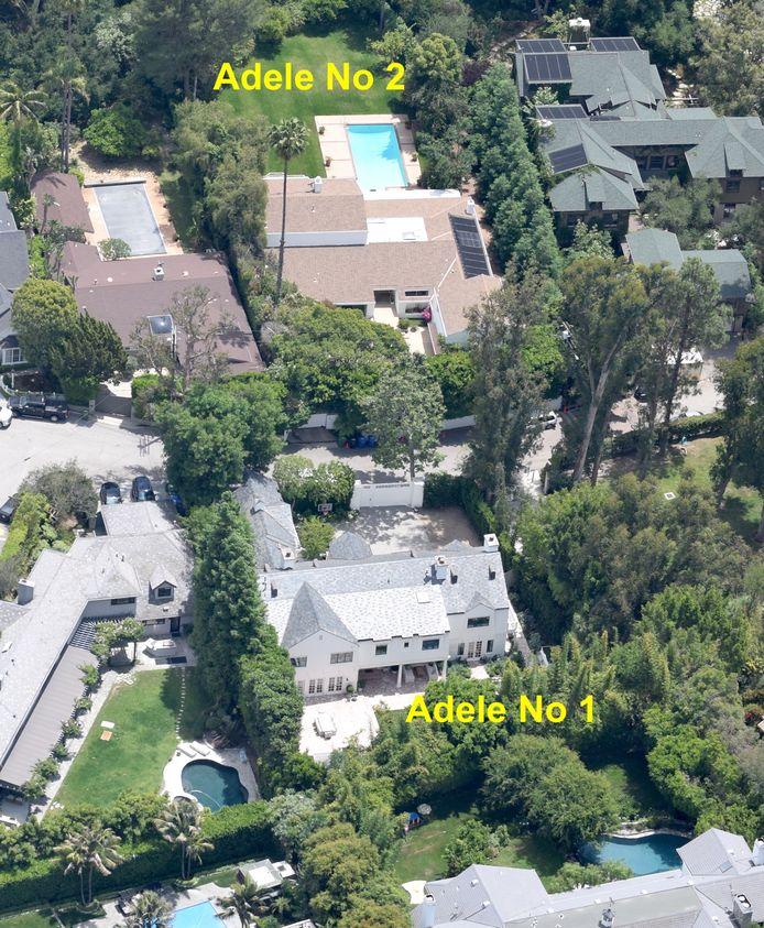 Het huis links onder in beeld is nu ook eigendom van Adele