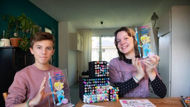 Roemer (13) uit Nijmegen en Rifka (16) uit Malden winnen NK Striptekenen: 'Beste grap van de middag'
