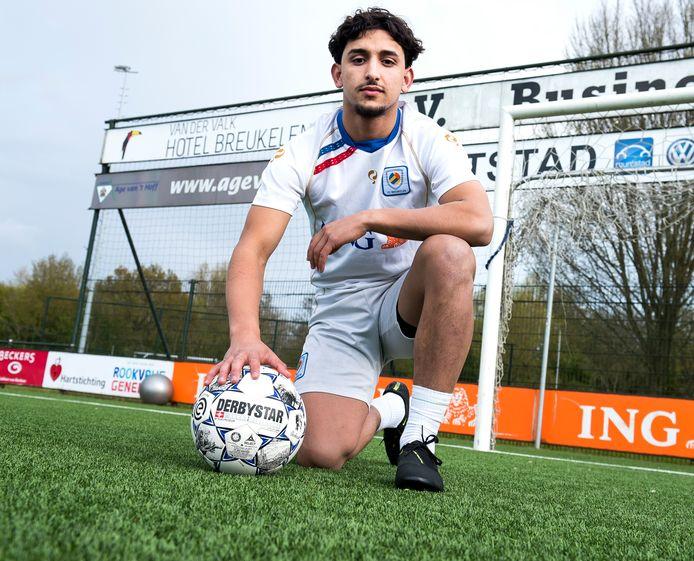 Woerdenaar Mohamed Mazouz traint sinds een maand mee bij zijn nieuwe club FC Breukelen.
