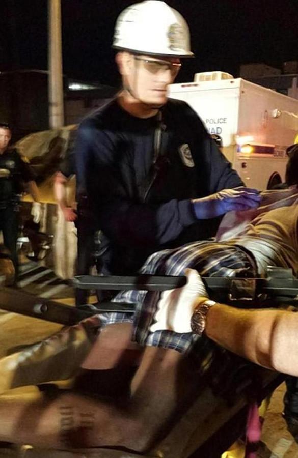 Sharard Nealy spieste zichzelf aan een omheining en kon maar nipt gered worden.