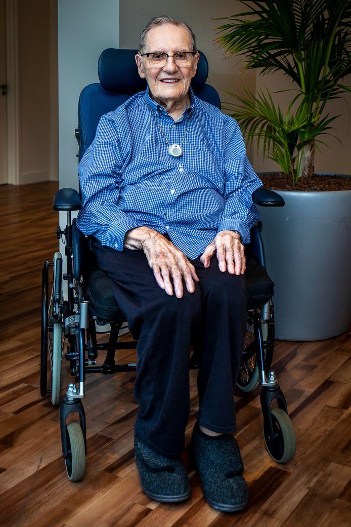 Pieter van Zwol op 104-jarige leeftijd.