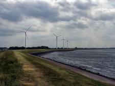 Protest tegen opschaling windmolens in Dinteloord