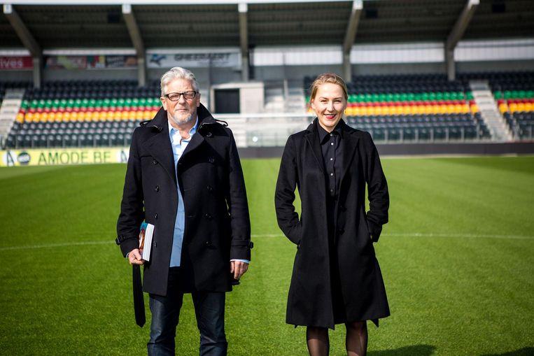 Curatoren Jan Fabre en Joanna De Vos in de Versluys Arena.