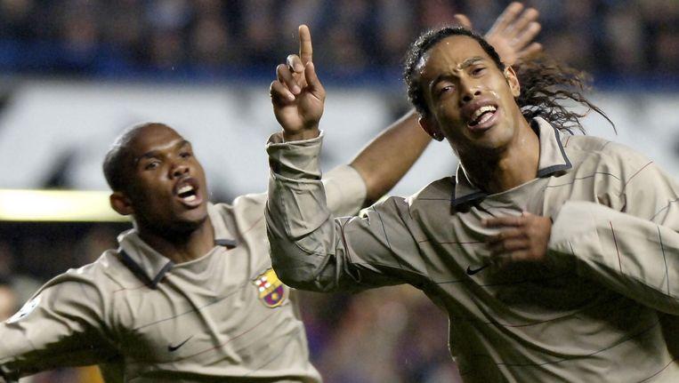 Eto'o en Ronaldinho straks terug samen bij Antalyaspor? Beeld PHOTO_NEWS