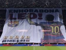 L'hommage des fans du Barça à Messi