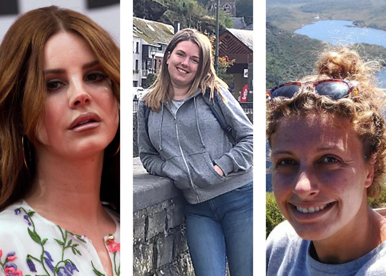 Popster Lana Del Rey (rechts). Kim (midden) en Julie (links) kozen er vorig jaar allebei voor om al hun sociale media te verwijderen.