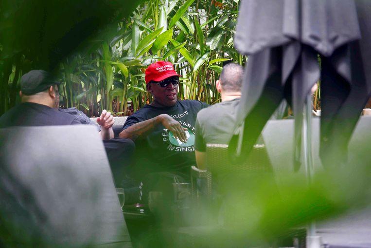 Rodman is sinds vanmorgen zelf ook in Singapore.