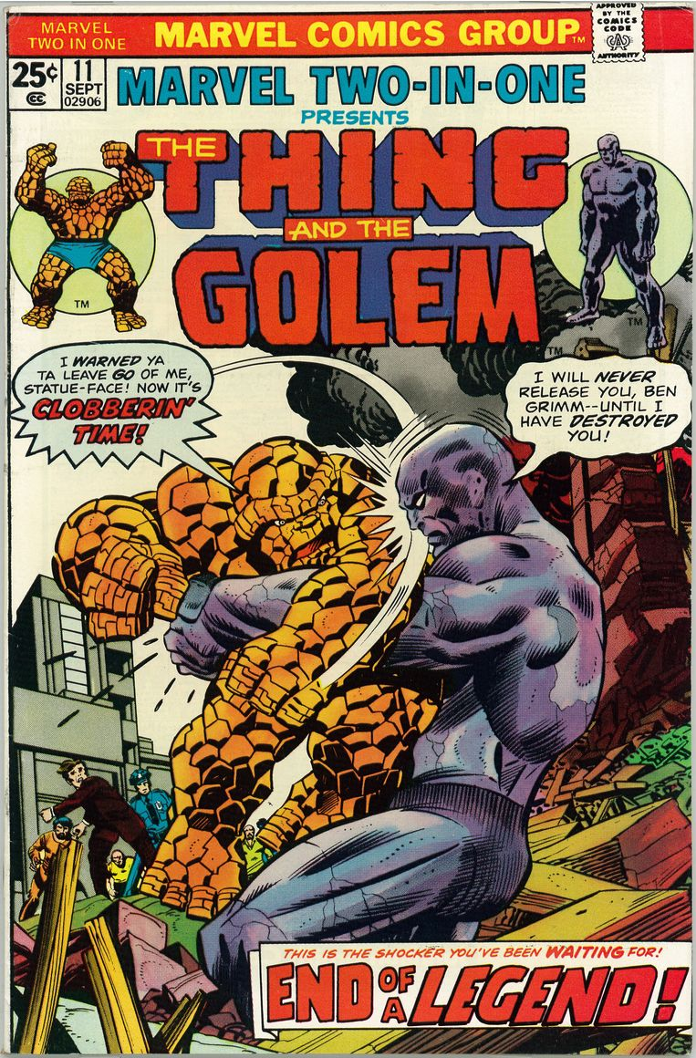 The Thing and The Golem. Beeld © Marvel Comics Group